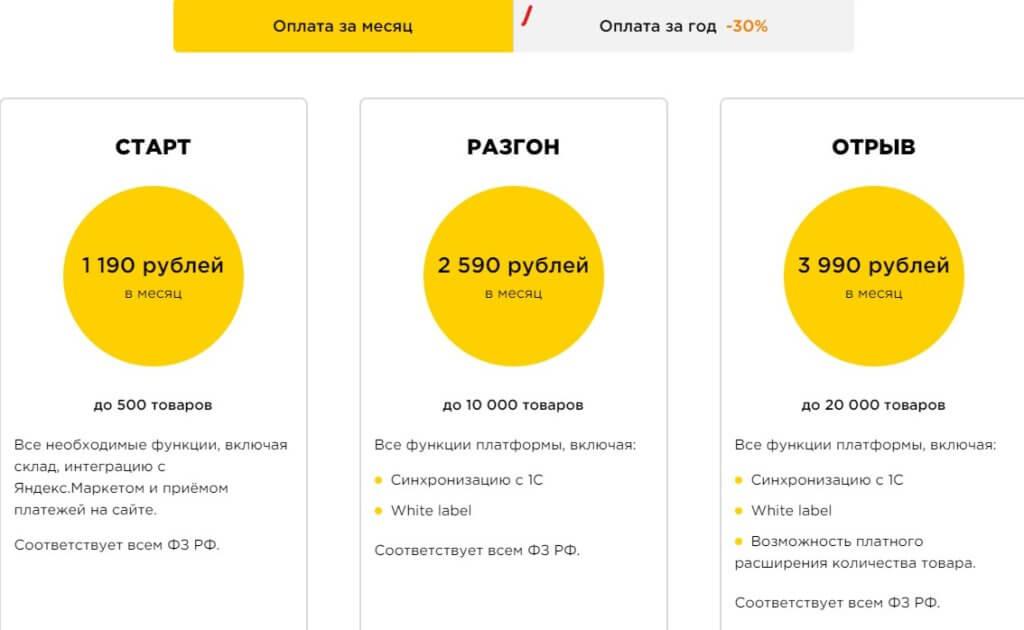 Sellios цена на конструктор веб сайтов