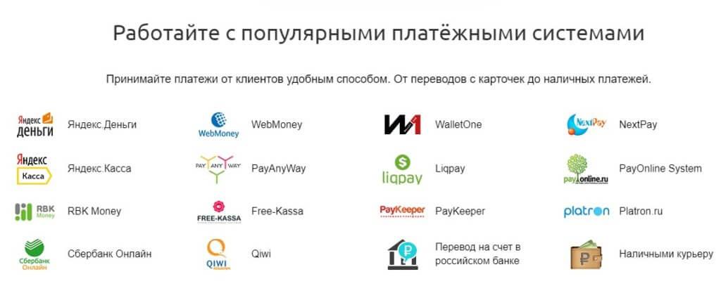 StoreLand платежные системы для интернет магазина