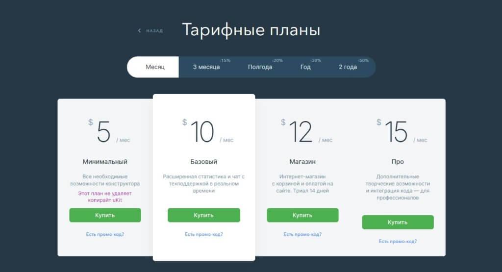 Ukit цена за создание сайта