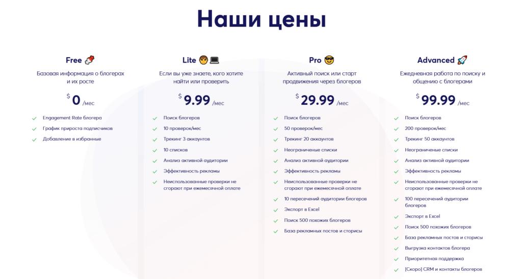 TrendHero проверка инстаграм аккаунта тарифы